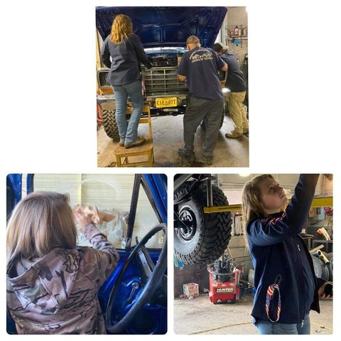 15 Year Old Girl Built Her Dream Truck 1978 F150 3.jpg