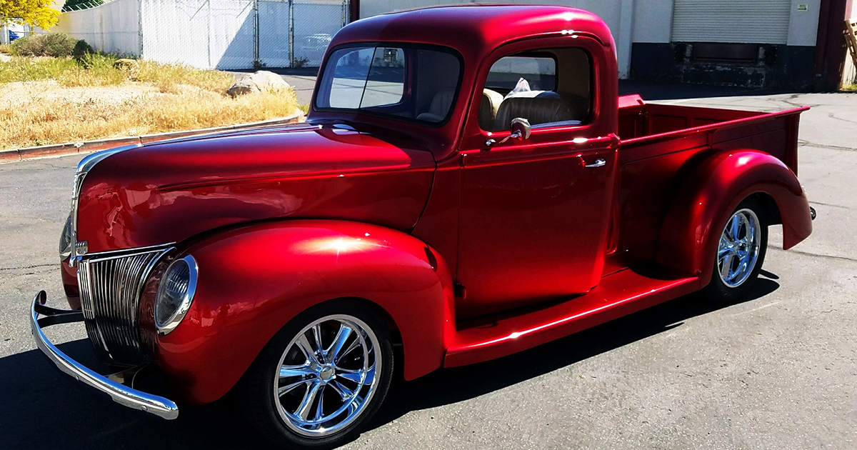 1940 Ford Pickup Truck Candy Apple Red 4.jpg