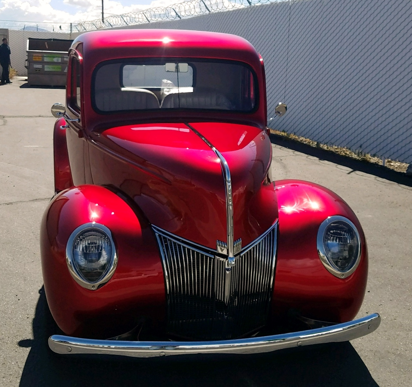 1940 Ford Pickup Truck Candy Apple Red 5.jpeg