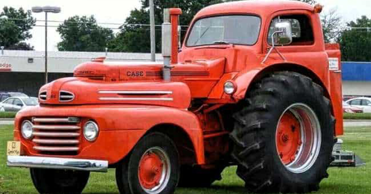 1948 Ford F1 And Case Tractor Modified Into A Rat Rod .jpg