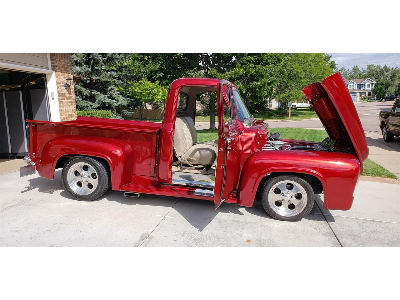 1953 Ford F100 Pickup Candy Apple Red 11.jpg