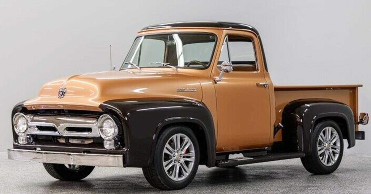 1954 Ford F-100 Dark Brown Bronze Pickup Truck.jpg