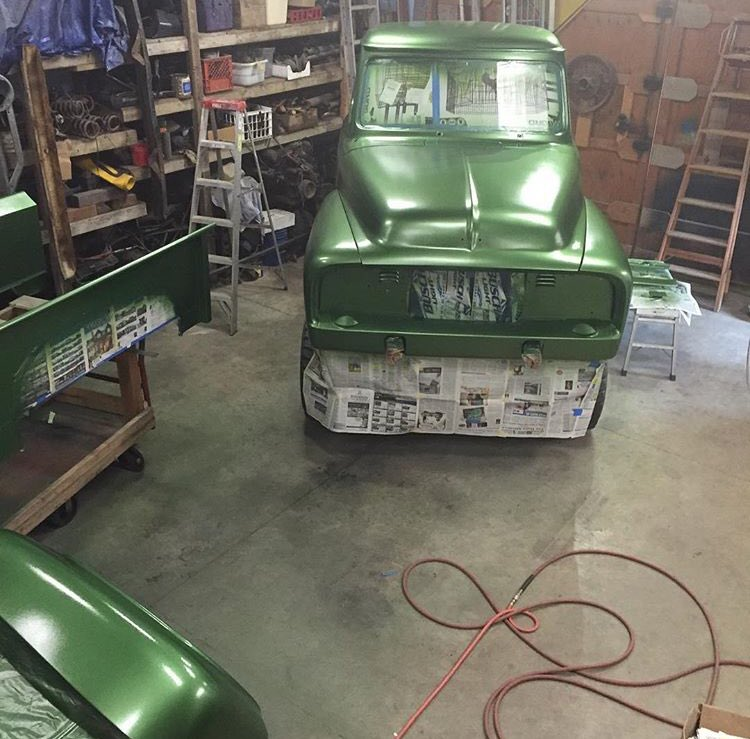 1955 Ford F100 460 Heavy Metal Flake Green 4x4  10.jpg