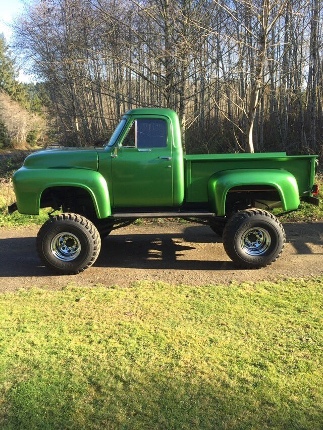 1955 Ford F100 460 Heavy Metal Flake Green 4x4  3.jpg