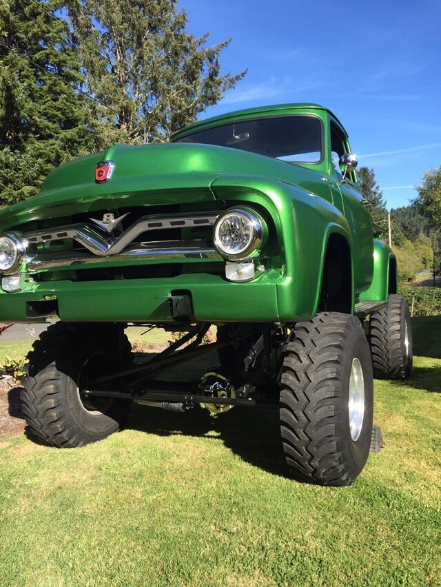 1955 Ford F100 460 Heavy Metal Flake Green 4x4  6.jpg