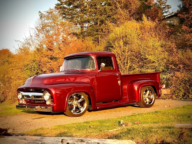 1956 Ford F100 Pickup Truck Candy Apple Red 6.jpg