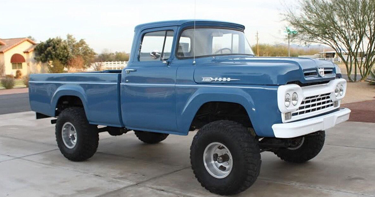 1960 Ford F-100 Factory Blue 4x4