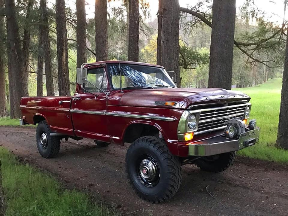 1969 Ford F-250 Highboy Original Royal Maroon Paint 2.jpg