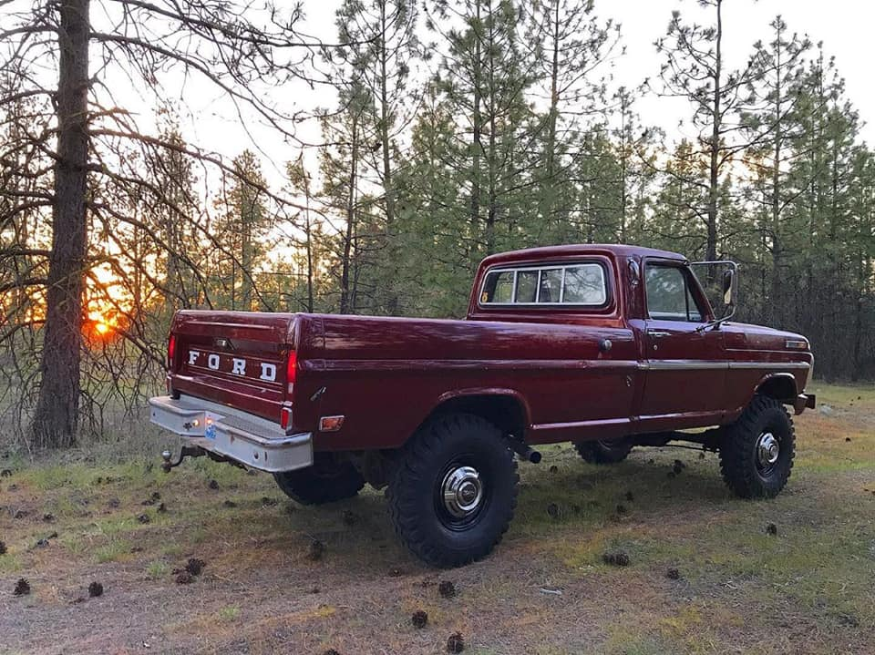 1969 Ford F-250 Highboy Original Royal Maroon Paint 3.jpg