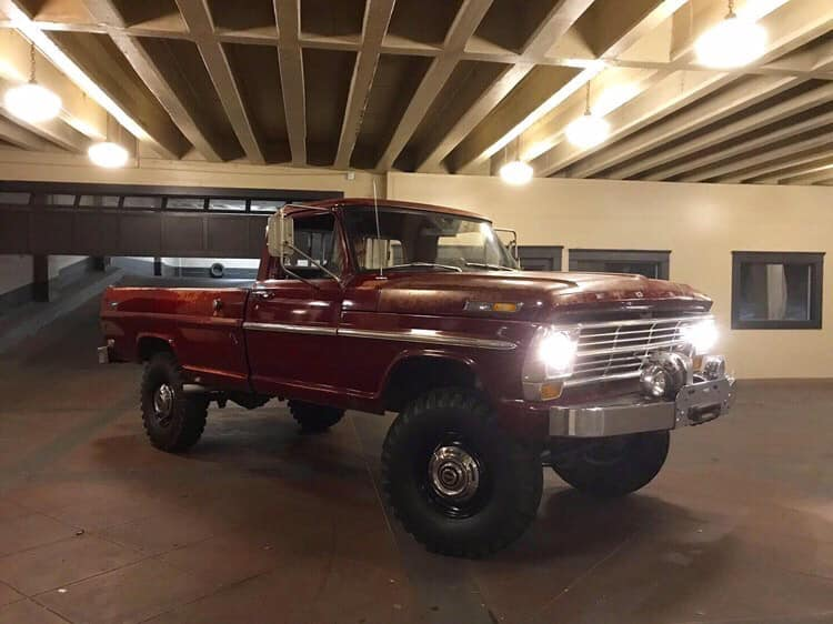 1969 Ford F-250 Highboy Original Royal Maroon Paint 8.jpg