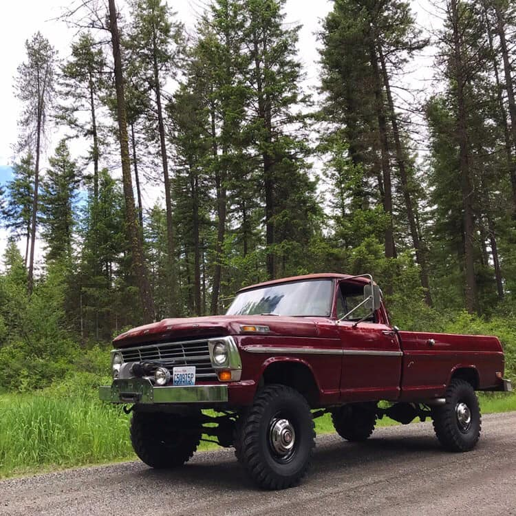 1969 Ford F-250 Highboy Original Royal Maroon Paint 9.jpg