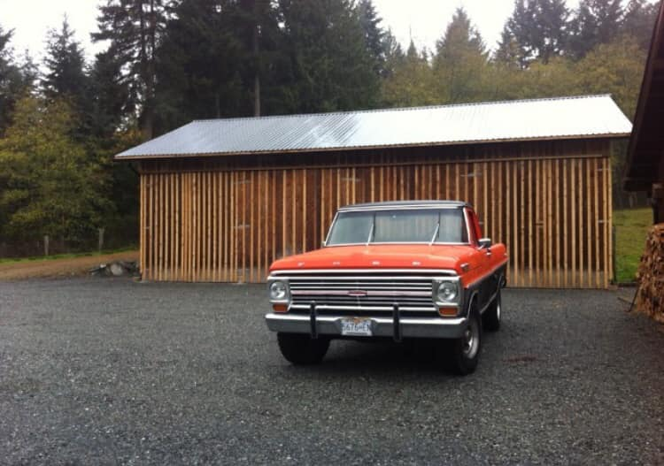 1969 Ford Truck With a 390 Big Block Calypso Coral Black www.FordDaily.net 2