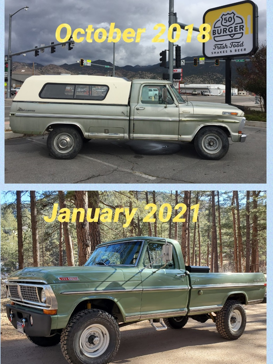 1970 Ford F-250 4x4 Powered By a 460 V8, Boxwood Green 9.jpg
