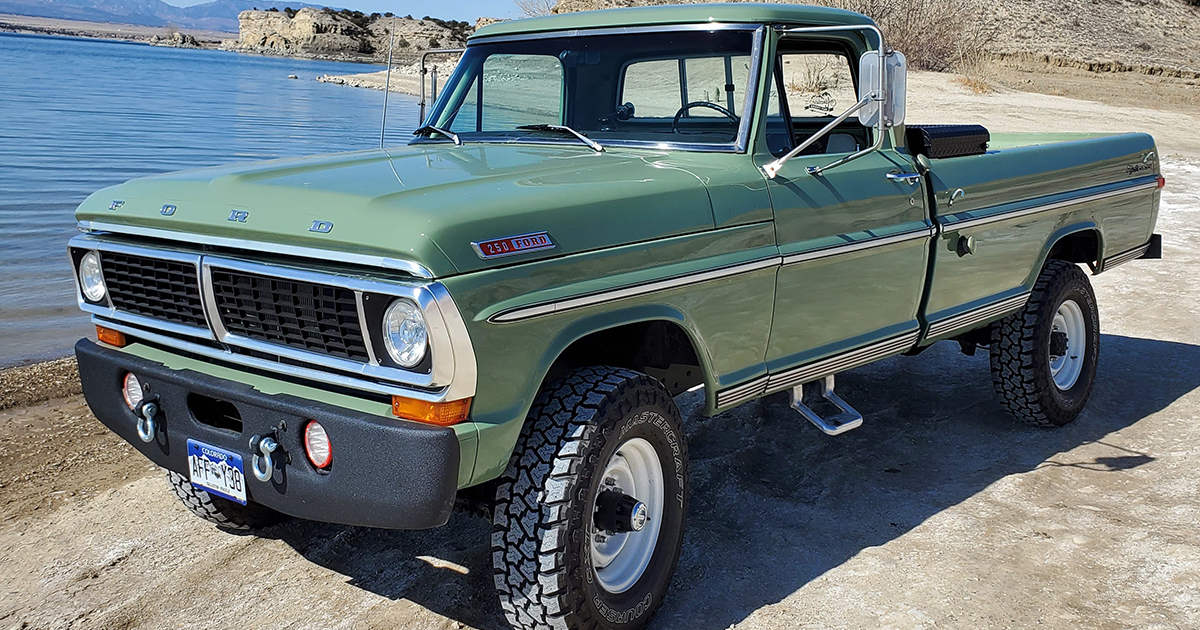 1970 Ford F-250 4x4 Powered By a 460 V8, Boxwood Green.jpg