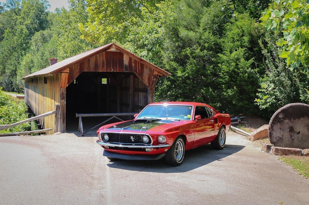 Candy Apple Red 1969 Ford Mustang Mach 1 Fastback 6.jpg