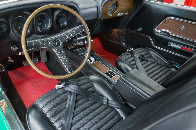 Gorgeous 69 Ford Mustang Mach 1 Grabber Green 5.jpg