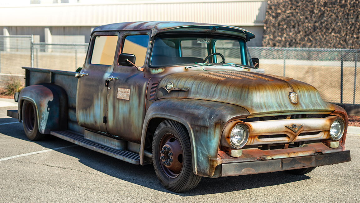 INCREDIBLE 1956 Ford F600 Ratrod Turned Out.png