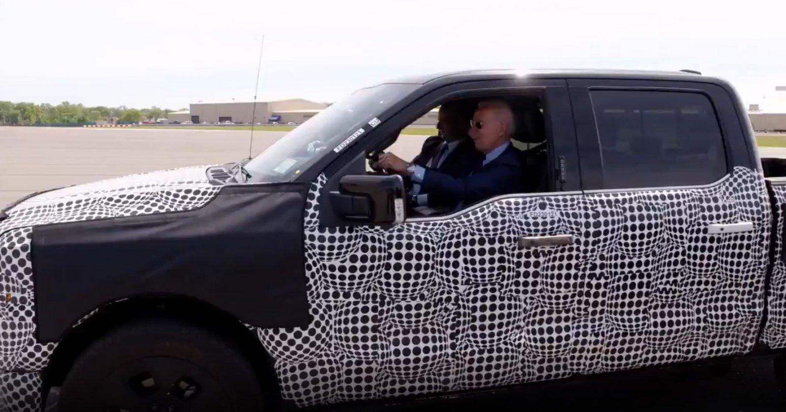 Joe Biden Test Drives 2022 Ford F-150 Lightning Electric Powered.JPG