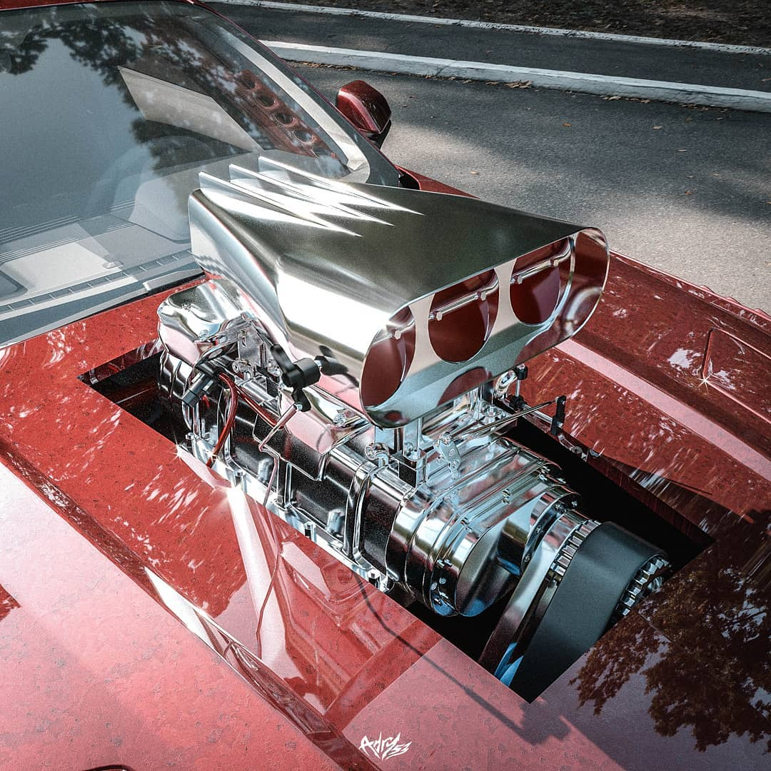 """Modern meets Oldschool  Ford Mustang """"Blower Brute"""" 5.jpg"""