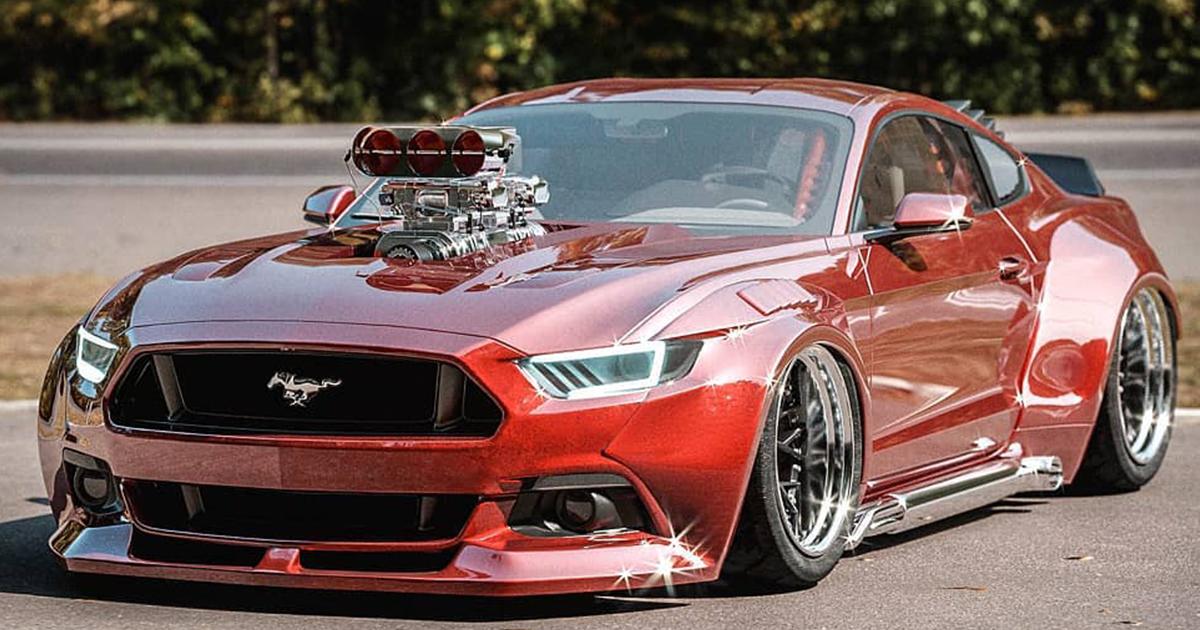 """Modern meets Oldschool  Ford Mustang """"Blower Brute"""".jpg"""