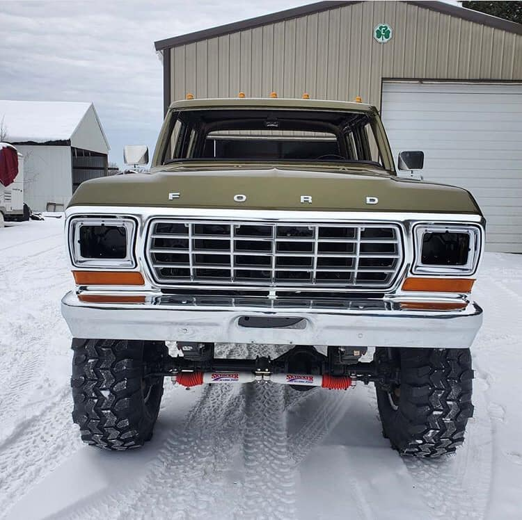 Olive Gold Pearl 1979 Ford F-250 Crew Cab 521 Stroker 4.jpg