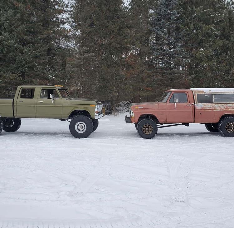 Olive Gold Pearl 1979 Ford F-250 Crew Cab 521 Stroker 7.jpg