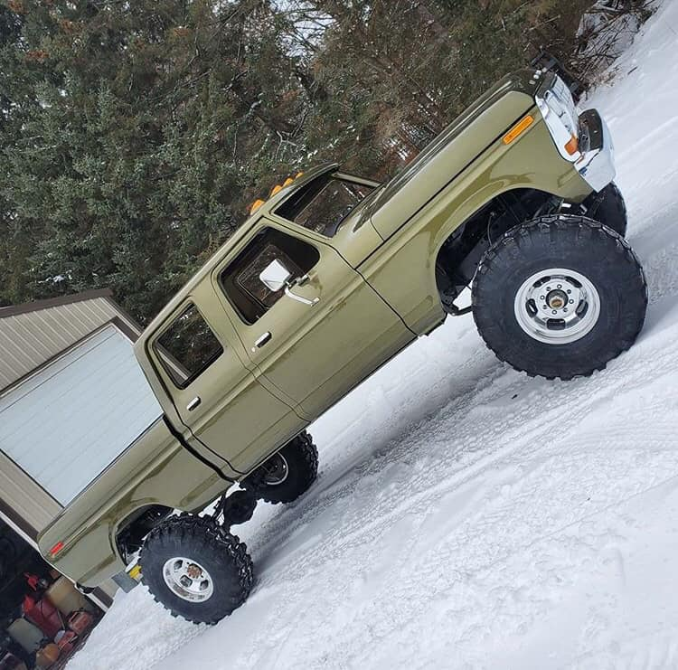 Olive Gold Pearl 1979 Ford F250 Crew Cab 521 Stroker 3.jpg