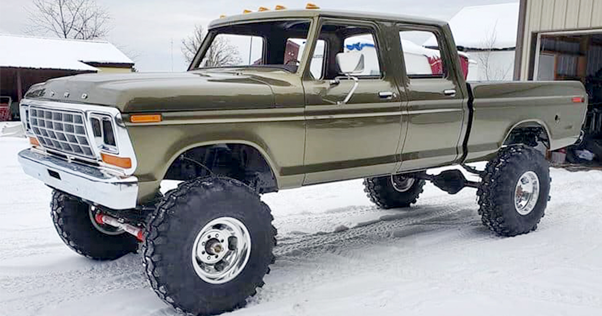 Olive Gold Pearl 1979 Ford F250 Crew Cab 521 Stroker.jpg
