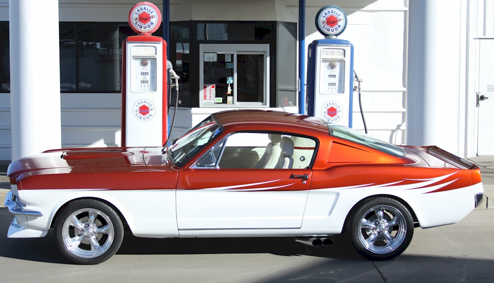 Orange And White 1966 Ford Mustang Fastback GT350 5.jpg