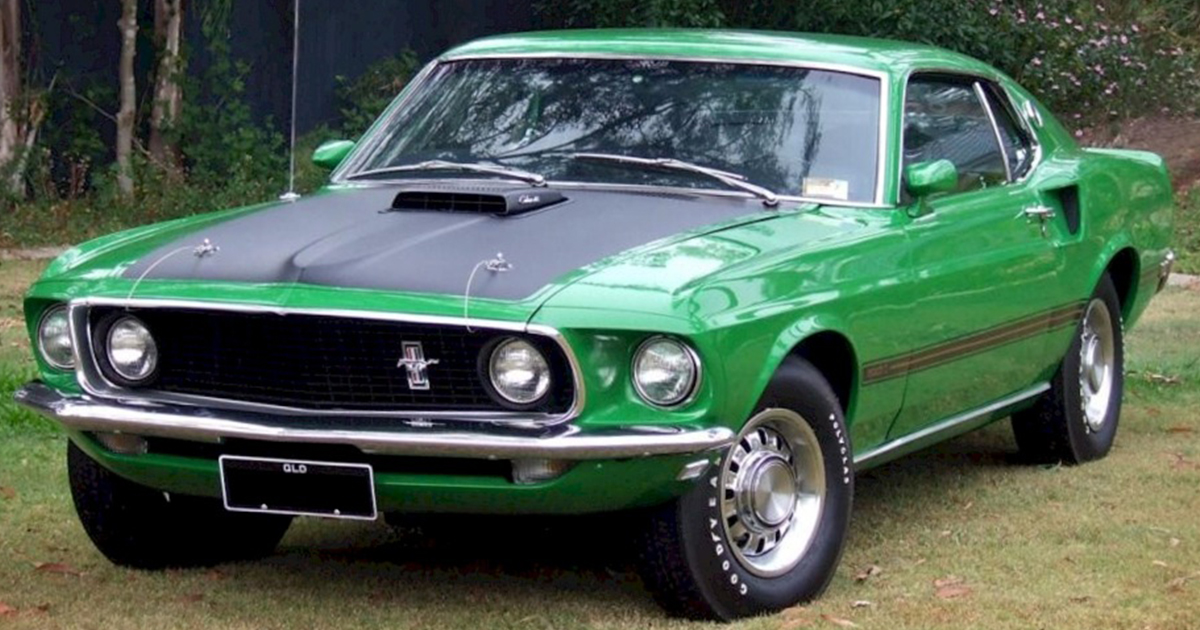 Poppy Green 1969 Mustang Mach 1 Fastback With Super Cobra Jet.jpg