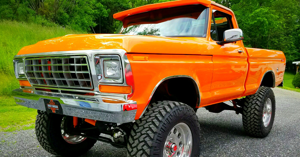 Re-Built 1978 Ford F150 4x4 Orange 1.jpg