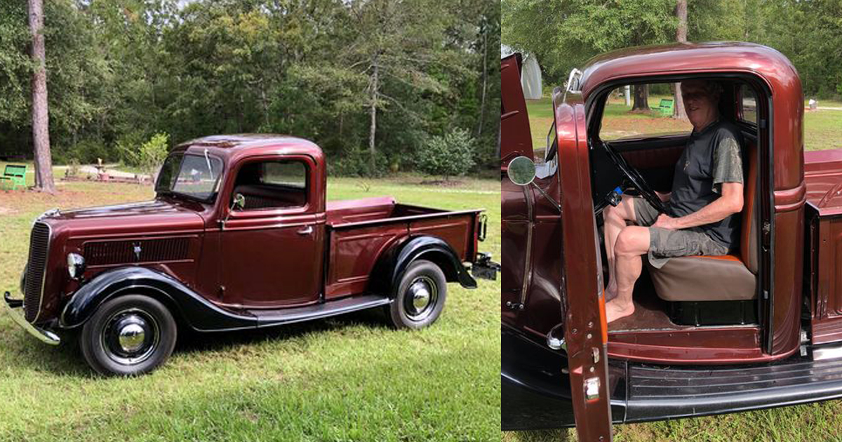Son Surprises His Dad With 1937 Ford Pickup 1.jpg