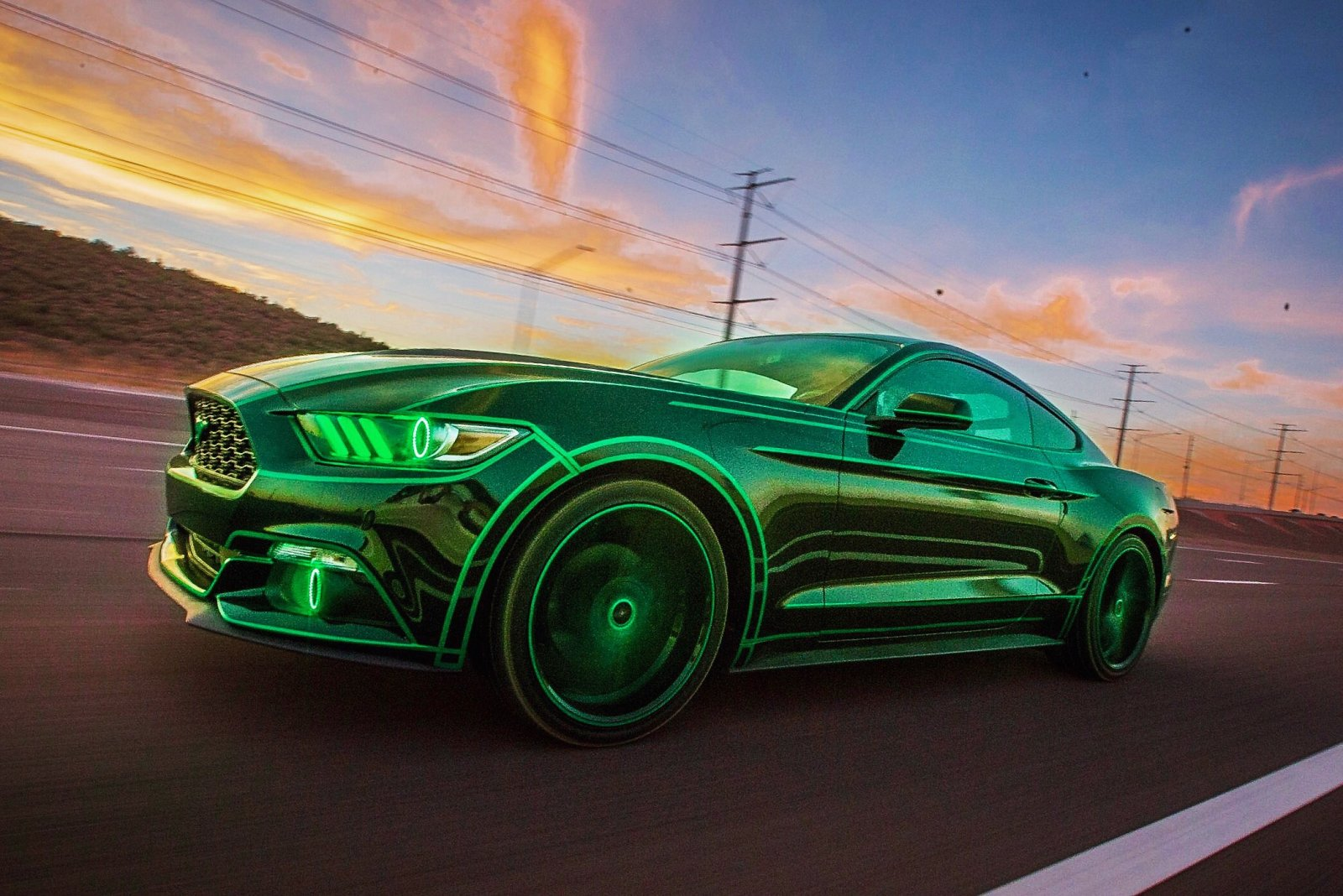 TRON Inspired Ford Mustang Story About Owner Josh Rivers  12.JPG