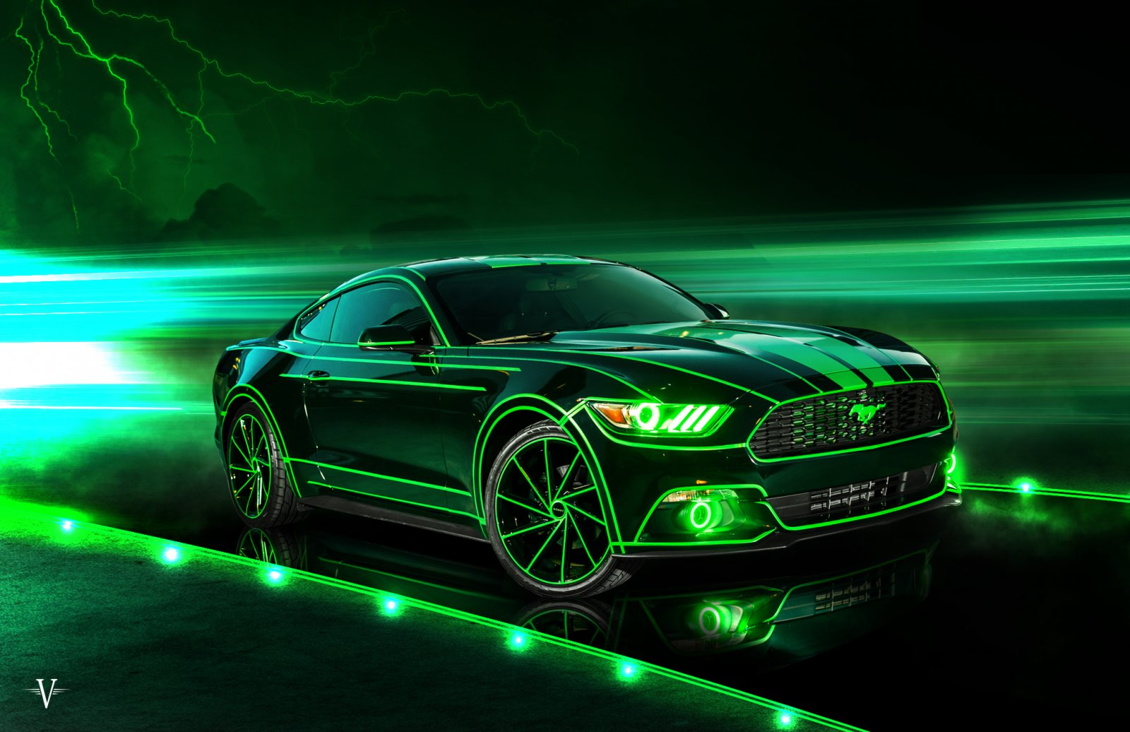TRON Inspired Ford Mustang Story About Owner Josh Rivers  7.jpg