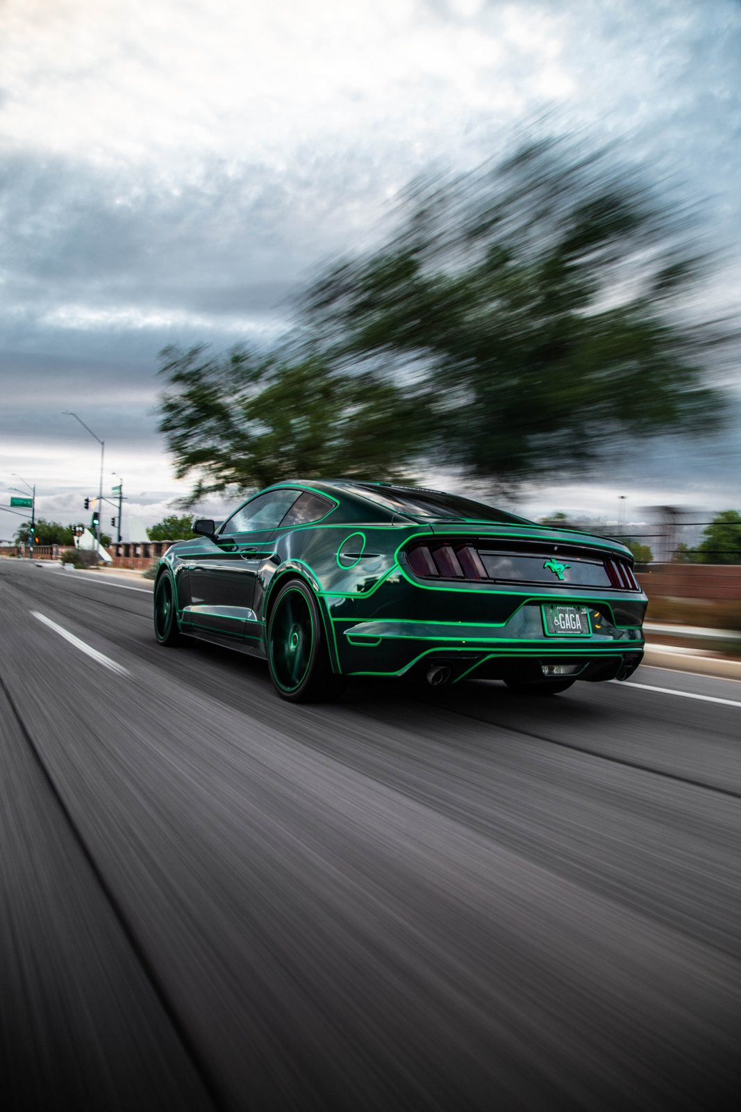 TRON Inspired Ford Mustang Story About Owner Josh Rivers  9.JPG