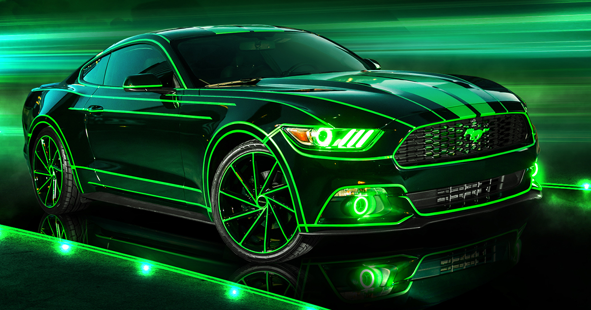 TRON Inspired Ford Mustang Story About Owner Josh Rivers .jpg