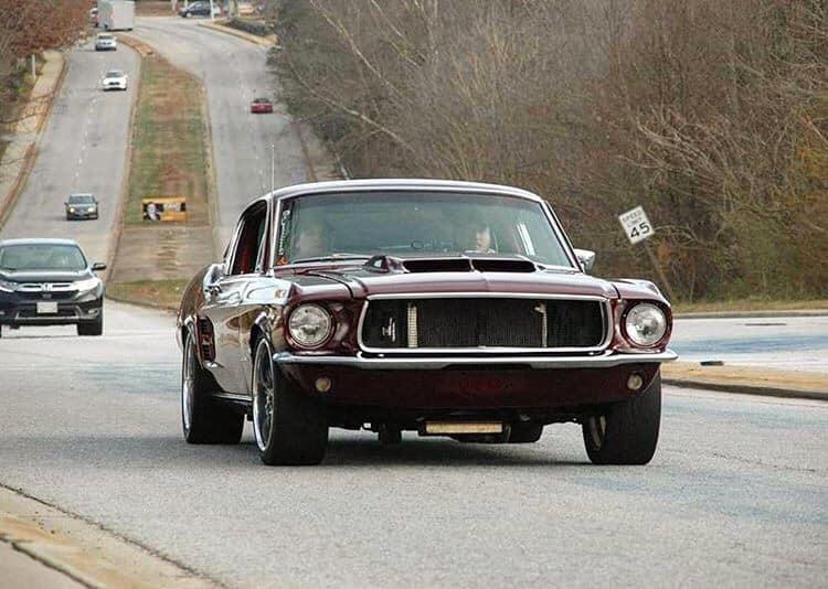 Vintage Burgundy 1967 Ford Mustang Fastback 347 Stroker www.FordDaily.net 3.jpg
