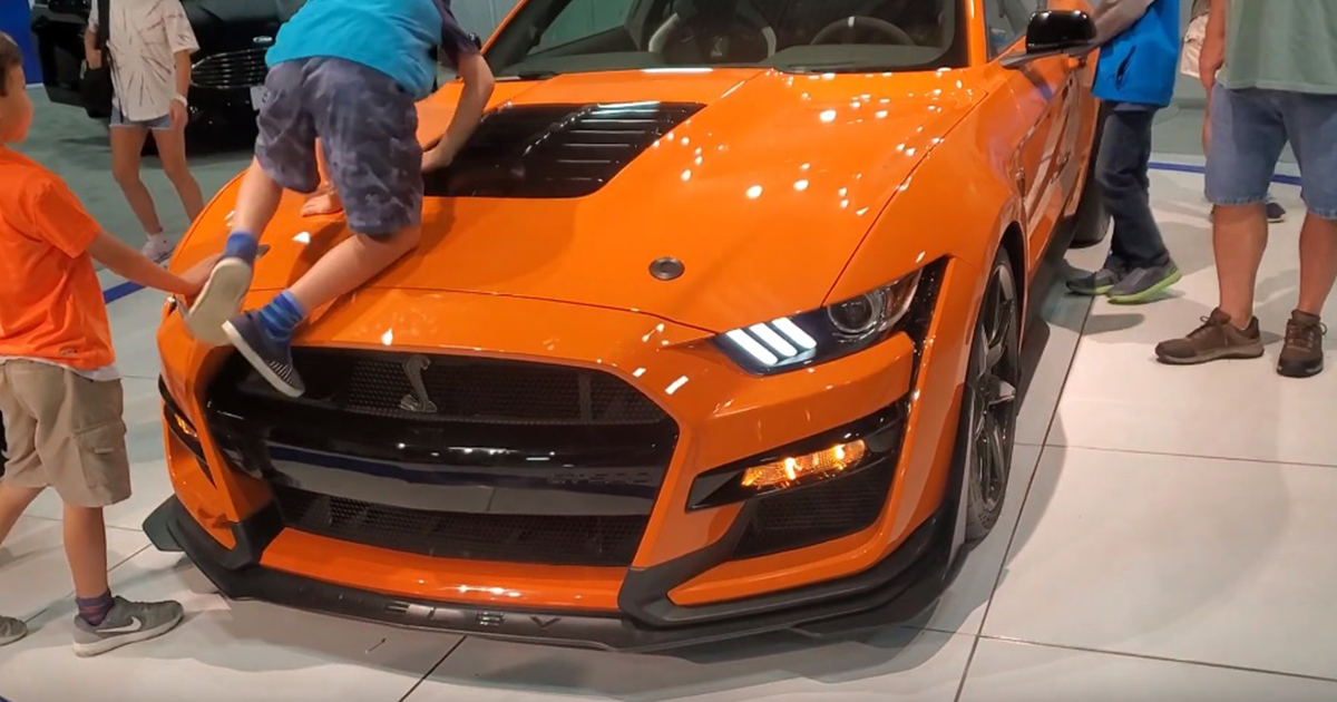 Would you let your kids to crawl on New Ford Mustang 2020 GT500 Like this parents.jpg