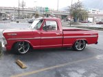 Red 1972 Ford F100 With a 302 Engine  2.jpg