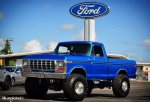Blue 1979 Ford F-150 4x4 On Super Swampers 2.jpg
