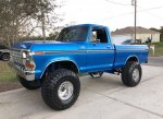 Blue 1979 Ford F-150 4x4 On Super Swampers 7.jpg