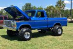 Blue 1979 Ford F-150 4x4 On Super Swampers 9.jpg
